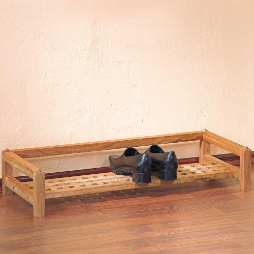 schuhregal holz mit stoffbezug. Black Bedroom Furniture Sets. Home Design Ideas