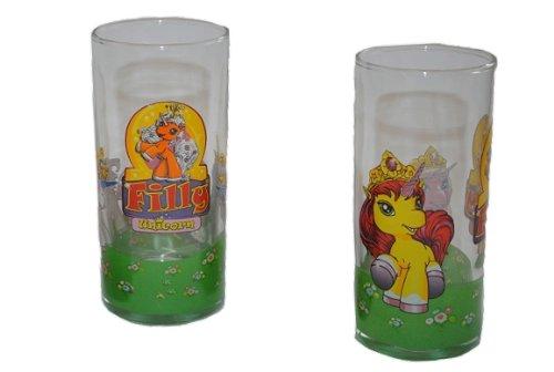 trinkglas filly pferd glas becher trinkbecher saftglas kind kinder princess. Black Bedroom Furniture Sets. Home Design Ideas