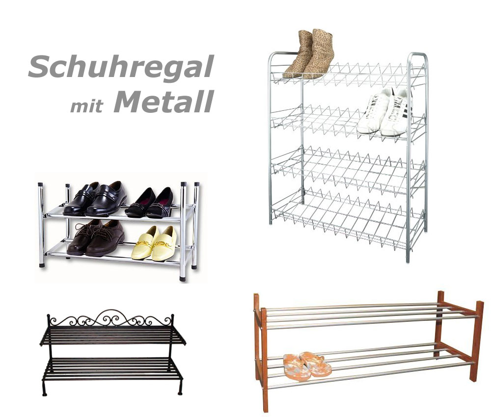 robuste schuhregale aus metall g nstig online kaufen. Black Bedroom Furniture Sets. Home Design Ideas